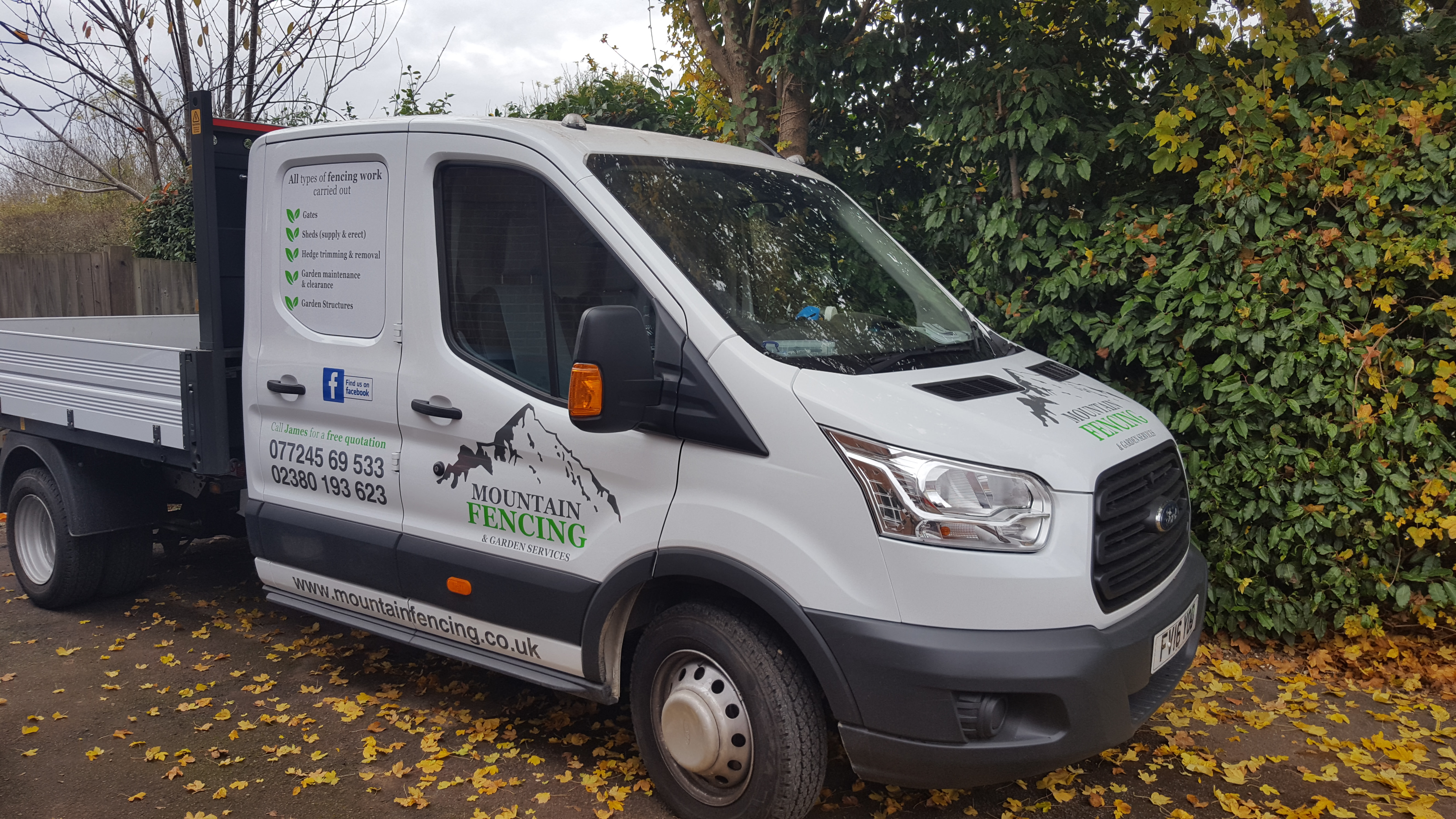 New Van Sign Writing Mountain Fencing Fencing And