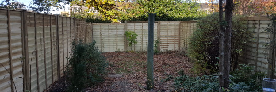 All around lap panel fencing completed today.