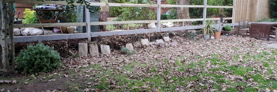 6ft closeboard fence on concrete posts and concrete gravelboards. Installed raised 1ft off the ground.